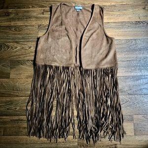 Ethereal by Paper Crane Vegan Leather Fringe Vest